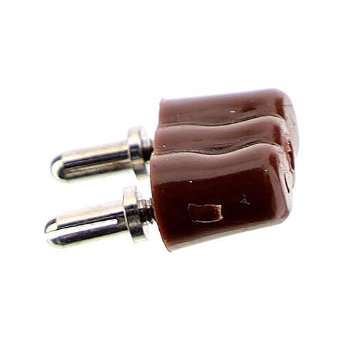 Attacco spina per luci presepe 3,5 e 4,5v 2
