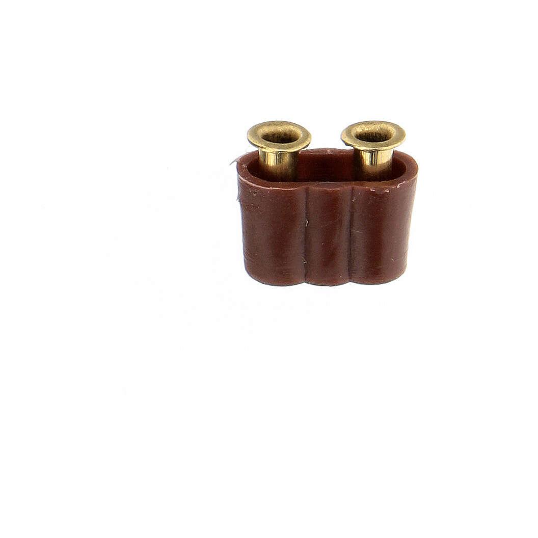 Anschlussstecker für Lichter Krippe 3.5 und 4.5v 4