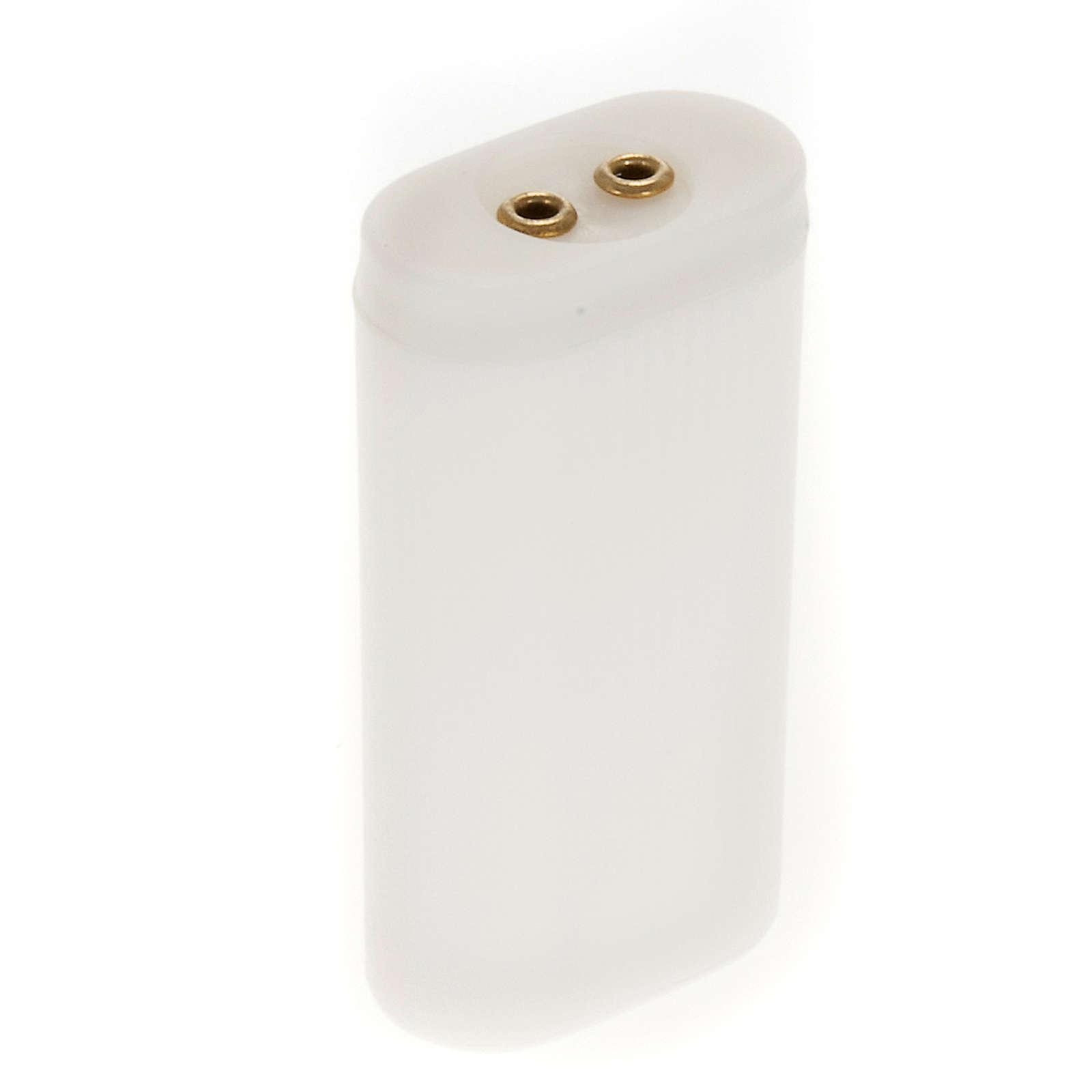 Suporte de pilhas para luzes presépio 4