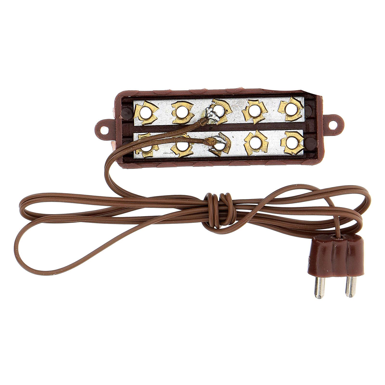 Regleta 5 enchufes para luces 3,5 - 4,5 V. 4