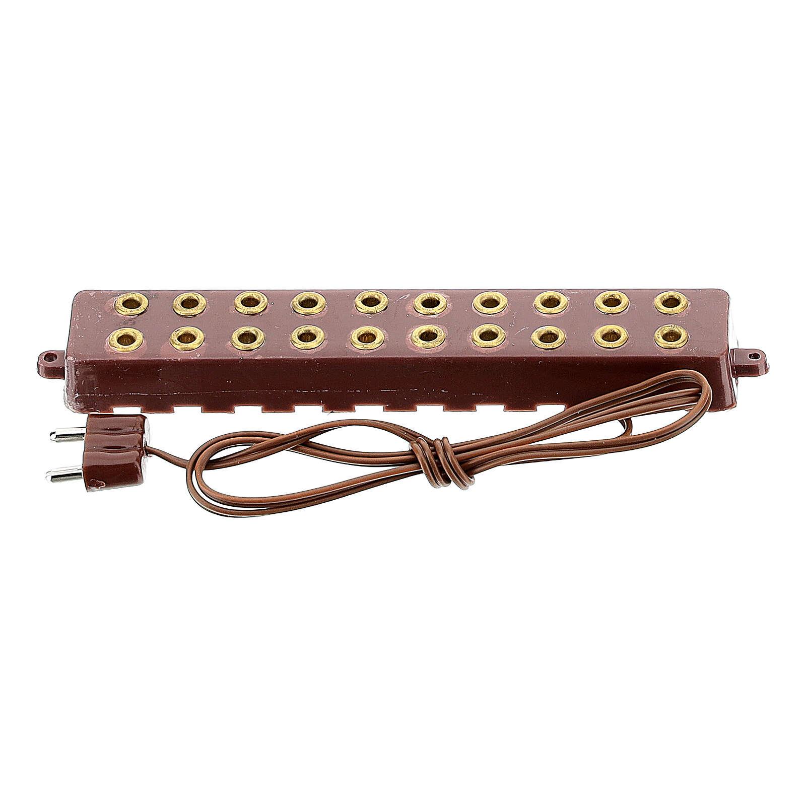 Vielfache Steckdose mit 10 Eingängen Krippenlichter 3.5 und 4.5v 4