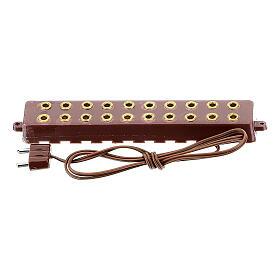 Vielfache Steckdose mit 10 Eingängen Krippenlichter 3.5 und 4.5v s1