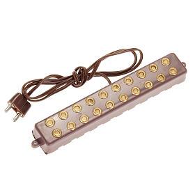 Lámparas y Luces: Regleta 10 enchufes para luces 3,5 - 4,5 V.