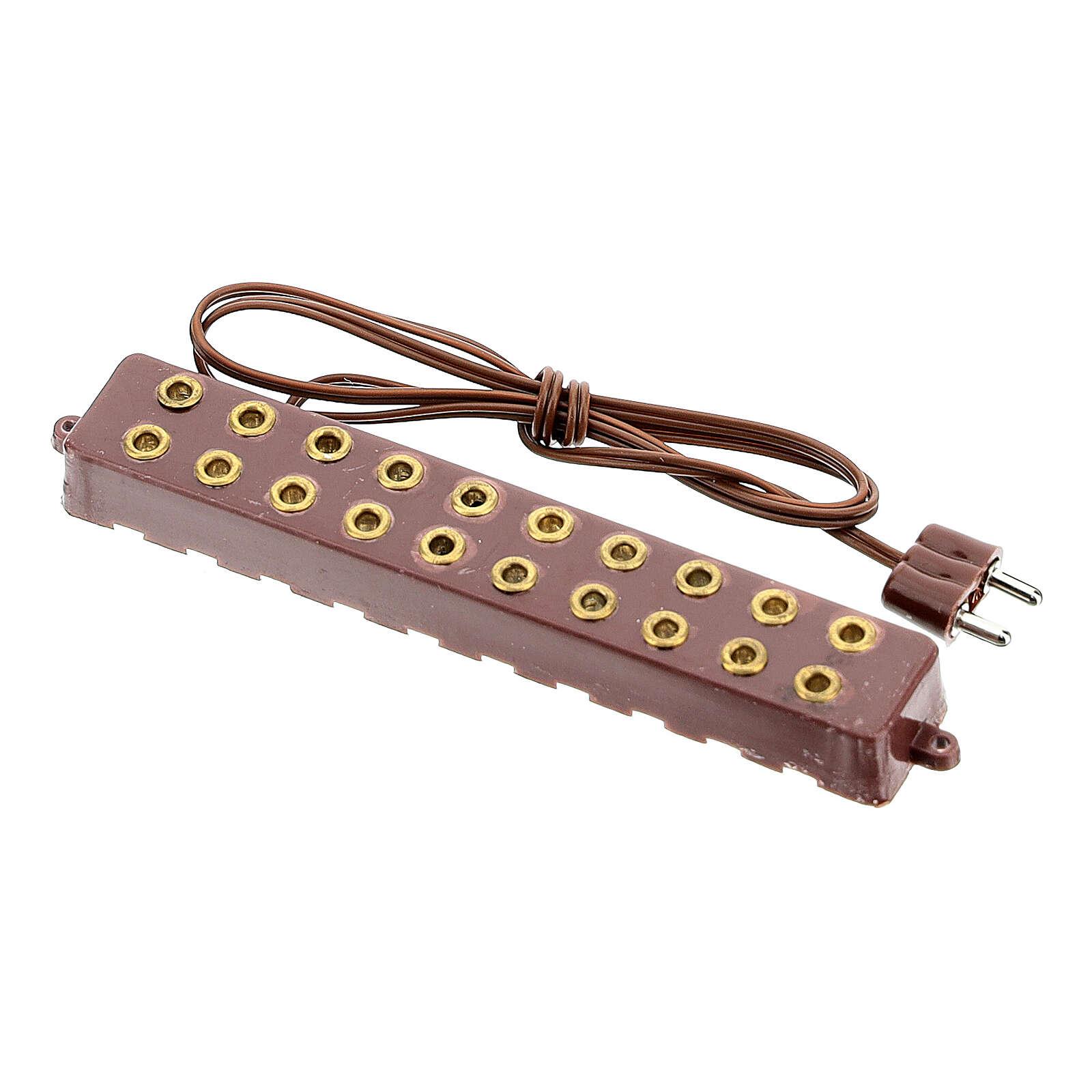 Socle 10 prises électriques bas voltage 3,5/4,5v 4