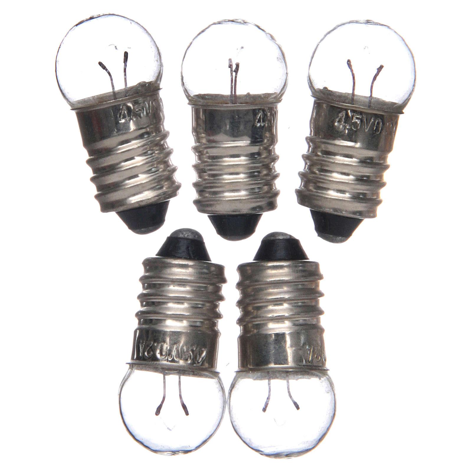 Lâmpada E10 branca 5 peças 3,5-4,5V 4