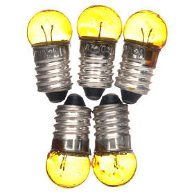 Lampadina E10 gialla 5 pz. 3,5-4,5v. s1