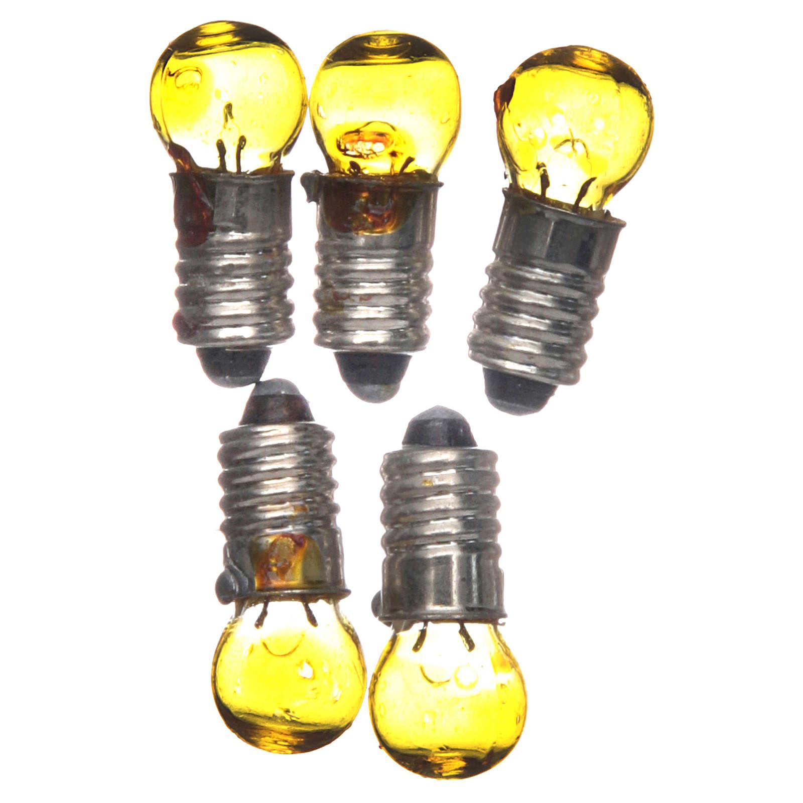Light bulb, yellow, E5.5, 5 pieces, 3V 4