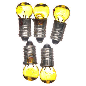 Nativity lights and lamps: Light bulb, yellow, E5.5, 5 pieces, 3V