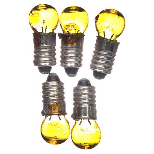 Light bulb, yellow, E5.5, 5 pieces, 3V 1