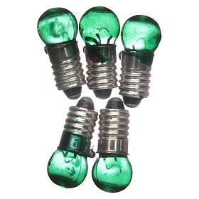 Luzes e Lamparinas para o Presépio: Lâmpada E5,5 verde 5 peças 3V
