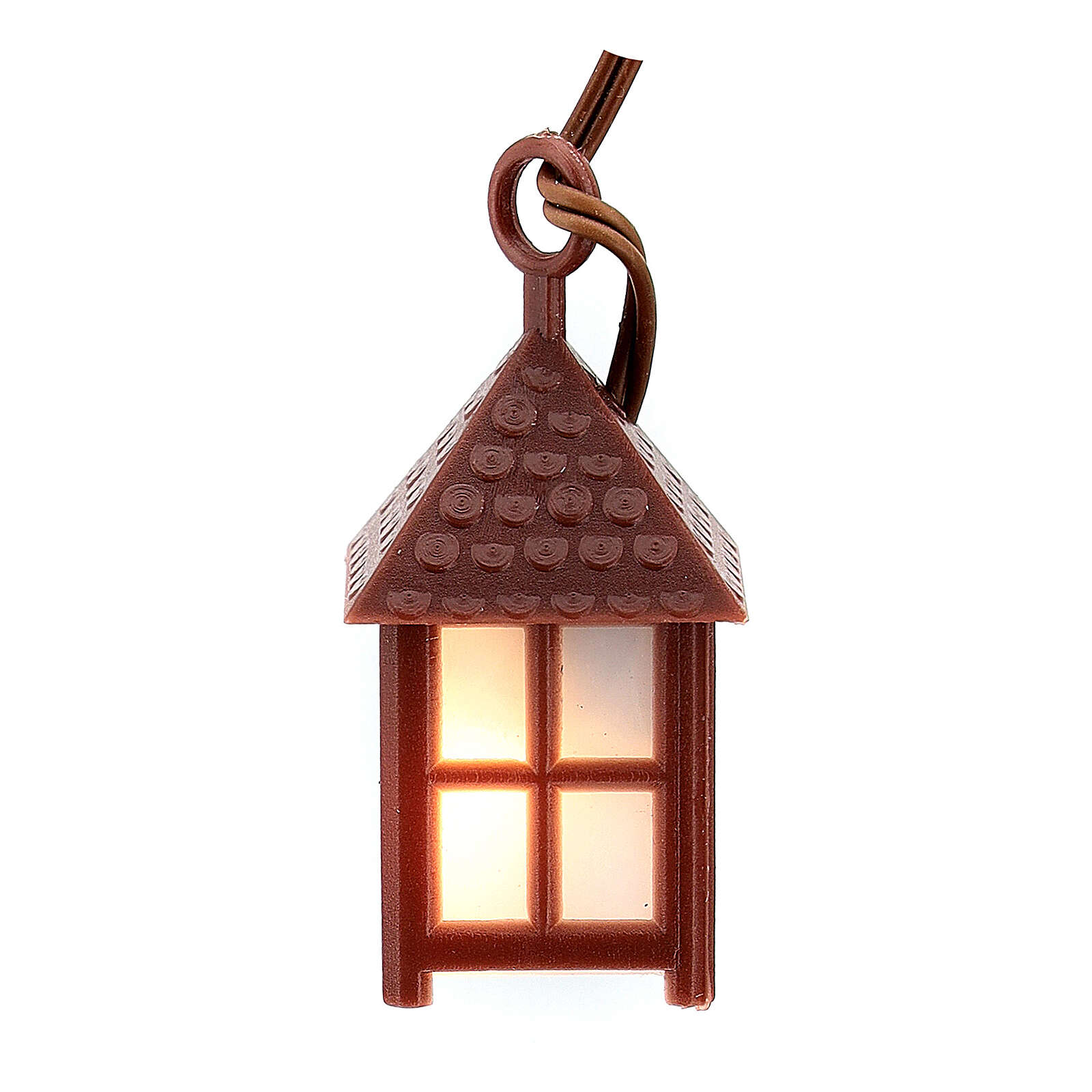 Nativity accessory, plastic lamp with white light, 4cm 4