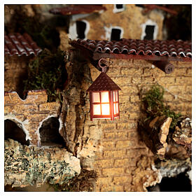 Nativity accessory, plastic lamp with white light, 4cm s2