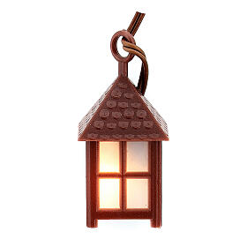 Nativity accessory, plastic lamp with white light, 4cm s3