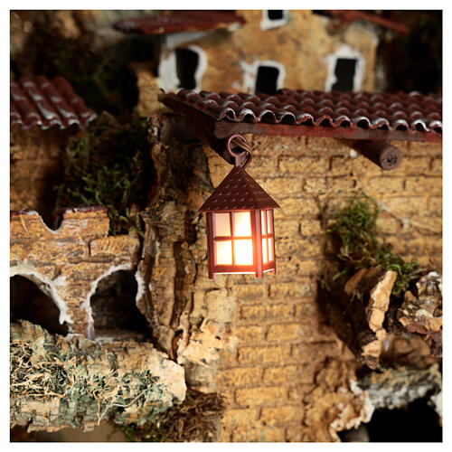 Nativity accessory, plastic lamp with white light, 4cm 2