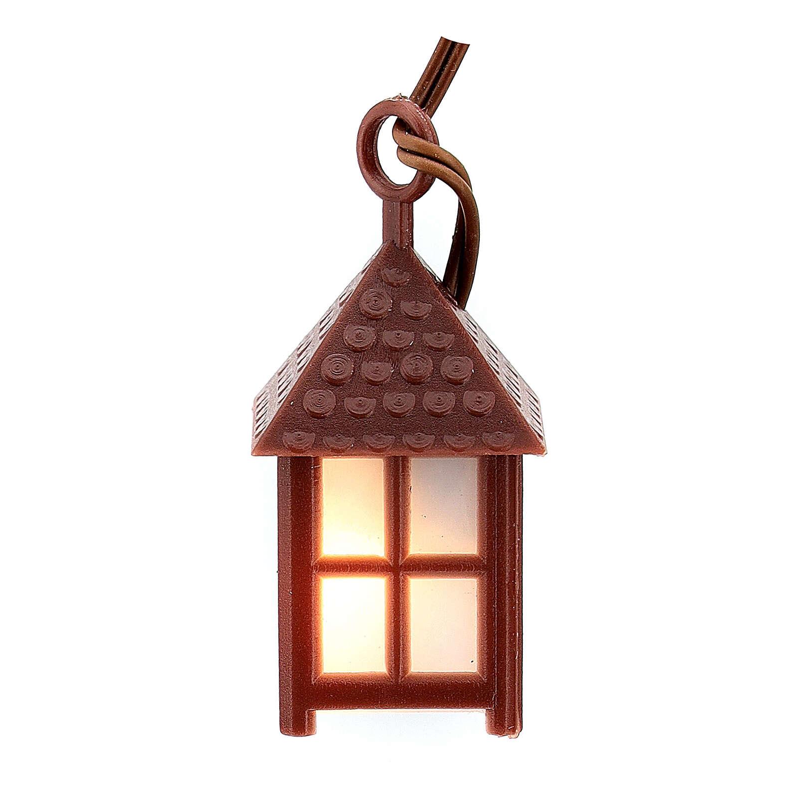 Lampione plastica luce bianca h 4 cm 4