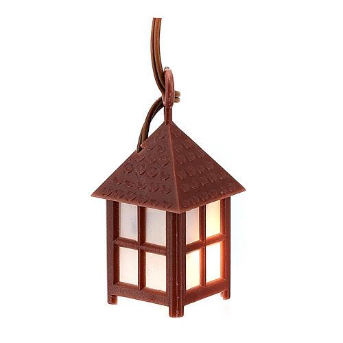 Lampione plastica luce bianca h 4 cm 1