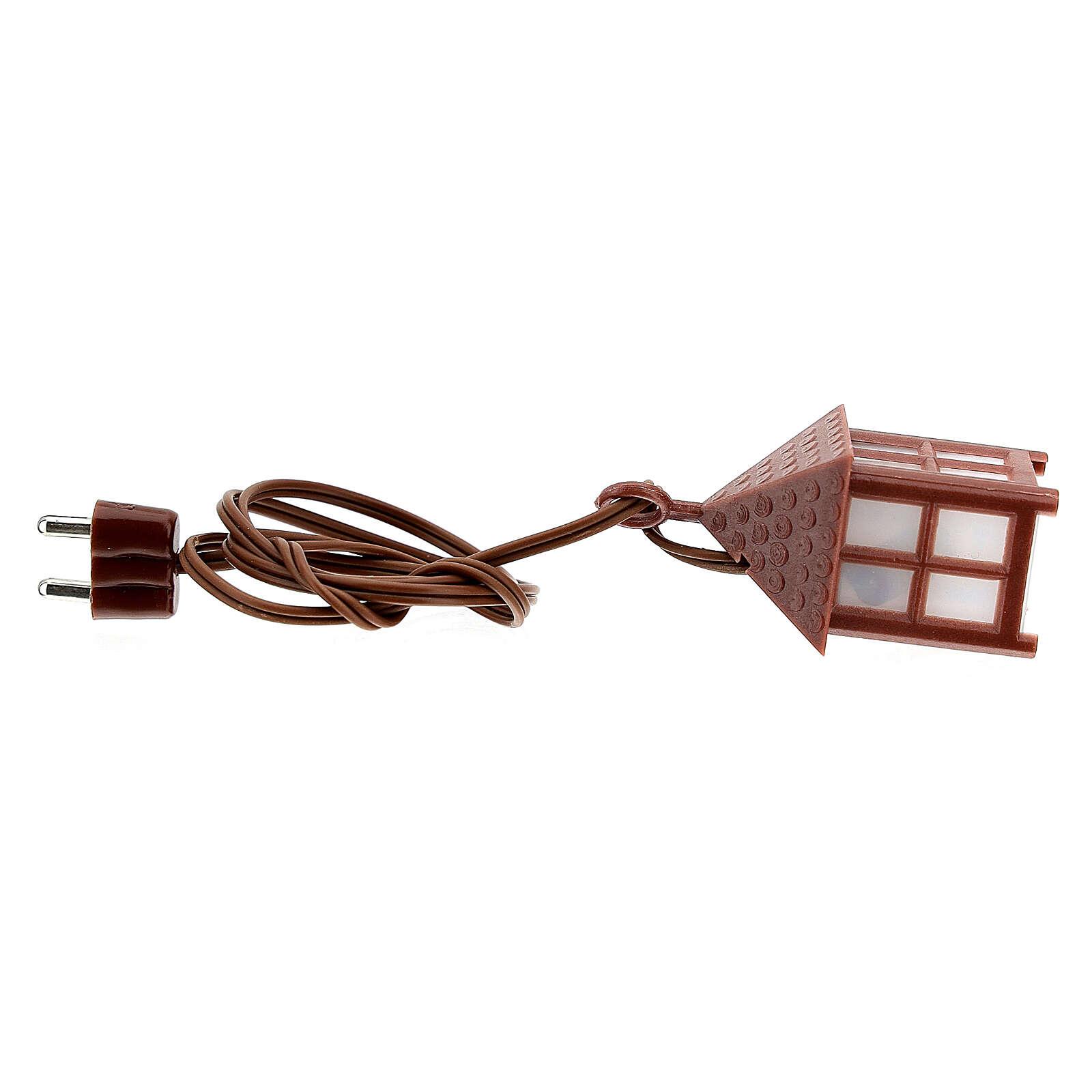 Nativity accessory, plastic lamp with white light, 4cm 4