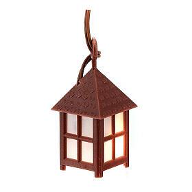 Nativity accessory, plastic lamp with white light, 4cm s1