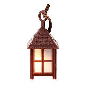 Nativity accessory, plastic lamp with white light, 4cm s3