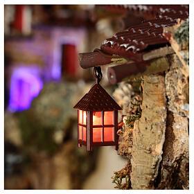 Lampion plastik światło czerwone h 4 cm s2
