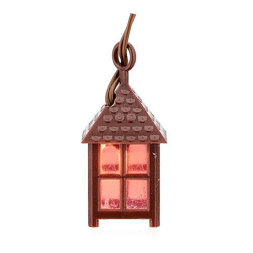 Lampion plastik światło czerwone h 4 cm 3