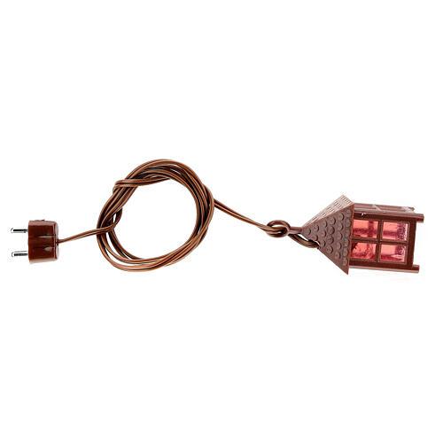 Lampion plastik światło czerwone h 4 cm 4