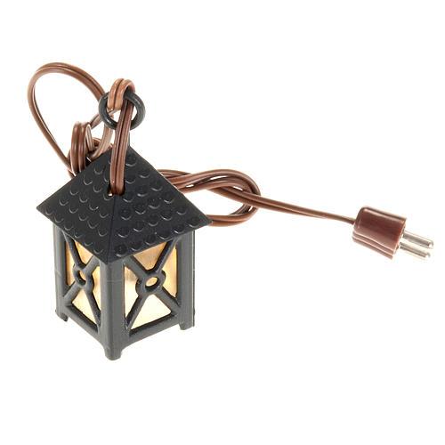 Nativity accessory, plastic lamp with yellow light, 4cm 1