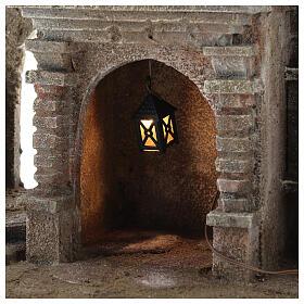 Lampion plastik światło żółte h 4 cm s2