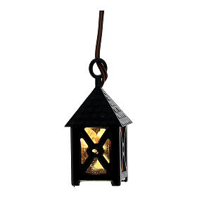Nativity accessory, plastic lamp with yellow light, 4cm s1