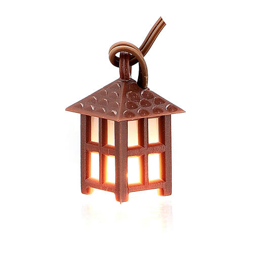 Nativity accessory, plastic lamp with white light, 2.5cm 1