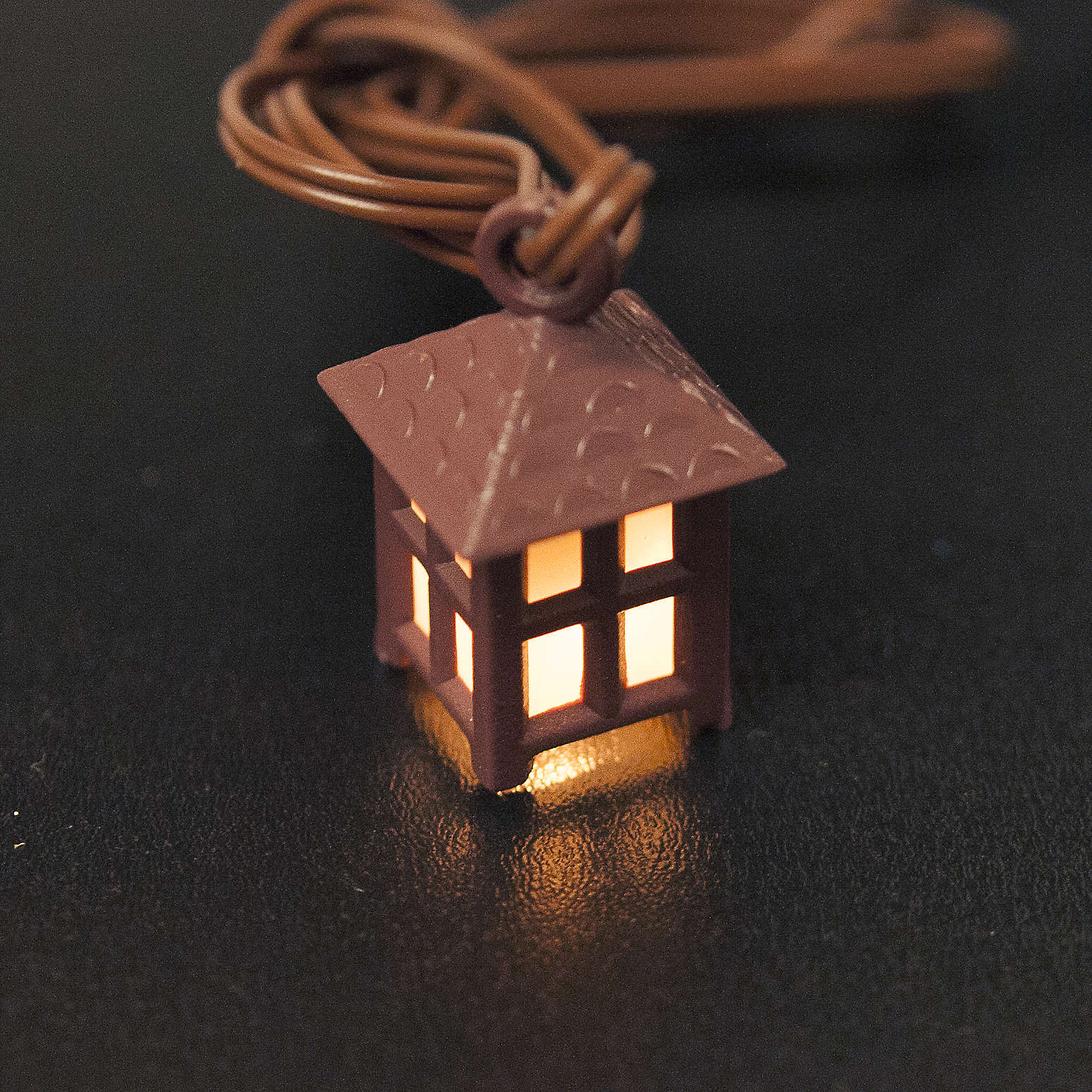 Nativity accessory, plastic lamp with white light, 2.5cm 4