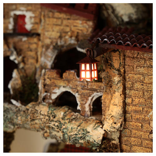Nativity accessory, plastic lamp with white light, 2.5cm 2
