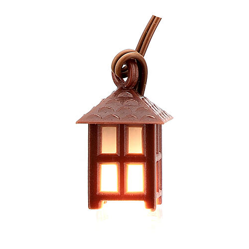 Nativity accessory, plastic lamp with white light, 2.5cm 3