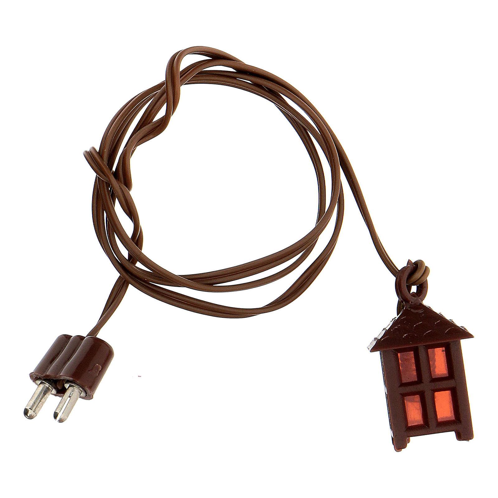 Lampione plastica luce rossa h 2,5 cm 4