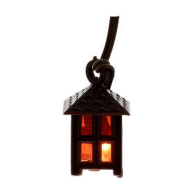 Nativity accessory, plastic lamp with red light, 2.5cm s1
