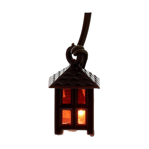 Nativity accessory, plastic lamp with red light, 2.5cm 1