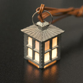 Nativity accessory, metal lamp with white light, 2.5cm s2