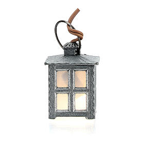 Nativity accessory, metal lamp with white light, 2.5cm s3