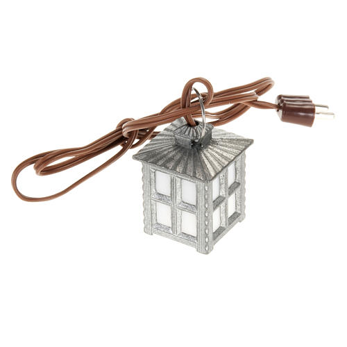 Nativity accessory, metal lamp with white light, 2.5cm 1