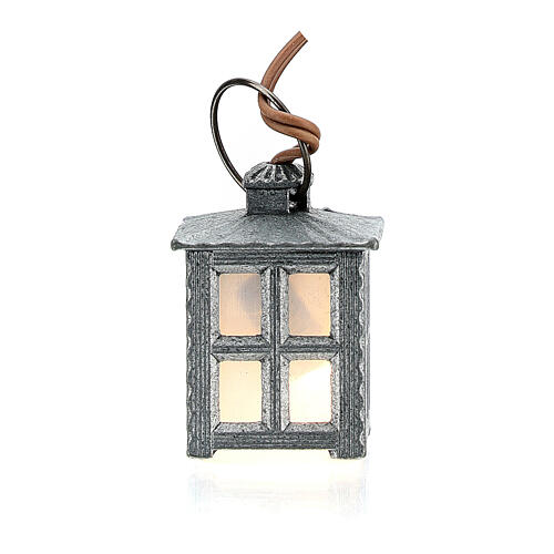 Nativity accessory, metal lamp with white light, 2.5cm 3