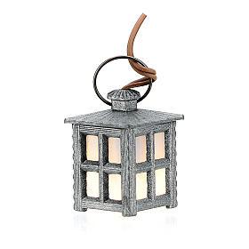 Lampione metallo luce bianca h 2,5 cm s1