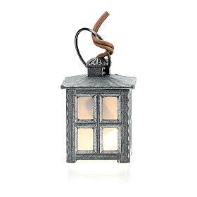 Lampione metallo luce bianca h 2,5 cm s3