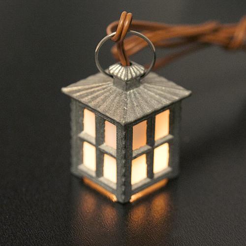 Lampione metallo luce bianca h 2,5 cm 2