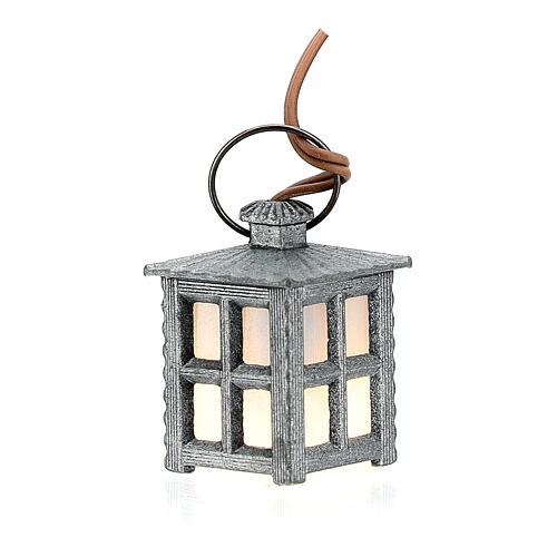 Lampione metallo luce bianca h 2,5 cm 1