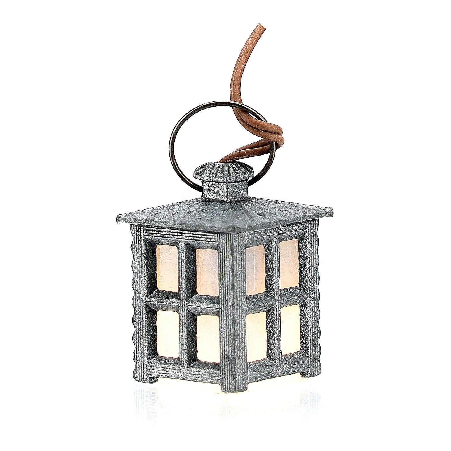 Lampion metal światło białe h 2.5 cm 4