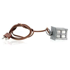 Lampion metal światło białe h 2.5 cm s4