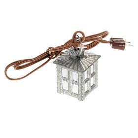 Luzes e Lamparinas para o Presépio: Lanterna metal luz branca h 2,5 cm