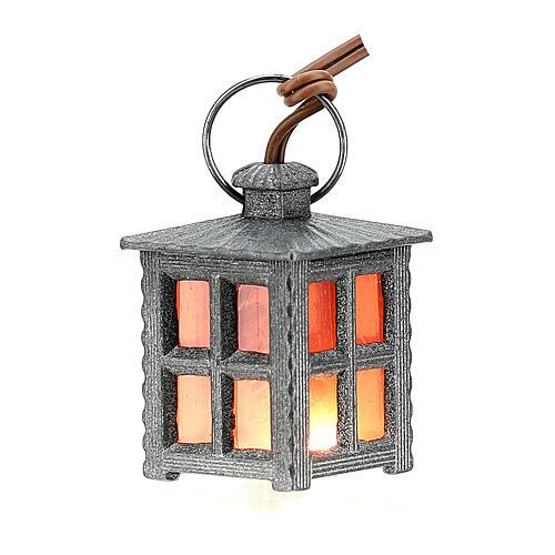 Lanterna metal luz vermelha h 2,5 cm 1