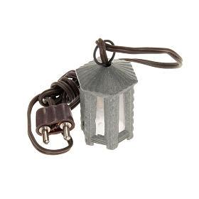 Luci presepe e lanterne: Lampione metallo luce bianca esagonale 3.5 cm