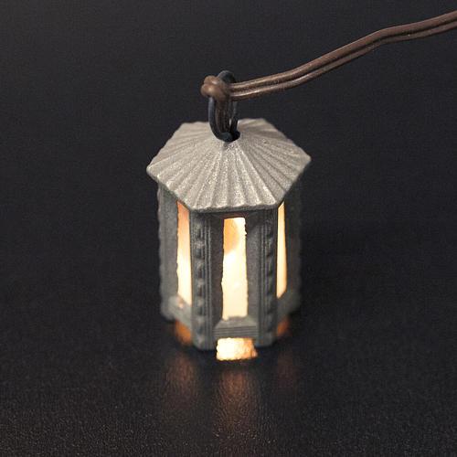 Lampione metallo luce bianca esagonale 3.5 cm 2